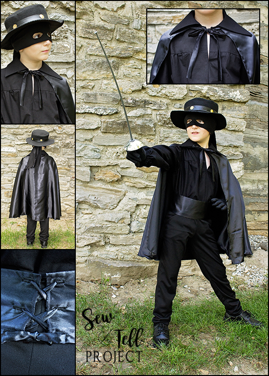 Zorro Costume - Costume Week for Project Run & Play